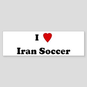 I Love Iran Soccer Bumper Sticker