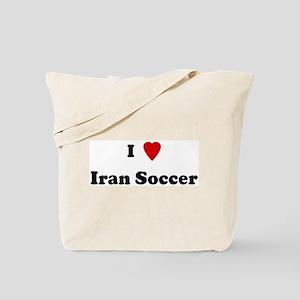 I Love Iran Soccer Tote Bag