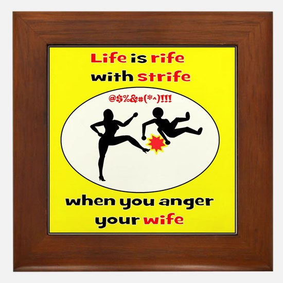 Romantic Comedy Framed Tile
