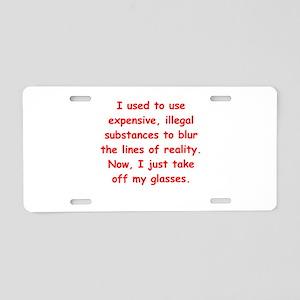 Old farts jokes Aluminum License Plate