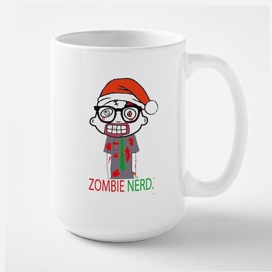 Zombie Nerd. Holiday Large Mug