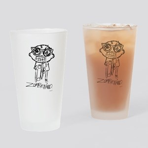 Zombie Nerd. Alternate Drinking Glass