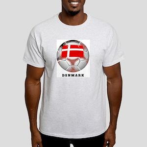 Denmark soccer Ash Grey T-Shirt