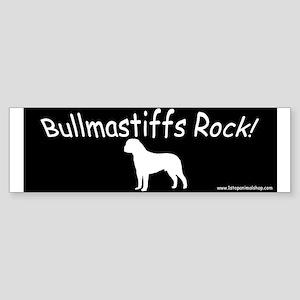 Bullmastiffs Rock white on black