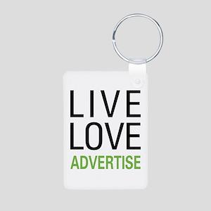 Live Love Advertise Aluminum Photo Keychain