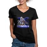 Bubbalicious Women's V-Neck Dark T-Shirt