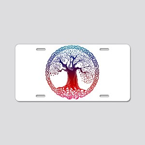 Sunset Celtic Tree Aluminum License Plate