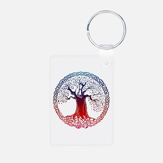 Sunset Celtic Tree Aluminum Keychain