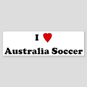 I Love Australia Soccer Bumper Sticker
