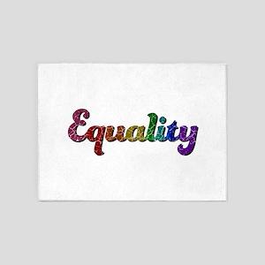Rainbow Equality 5'x7'Area Rug