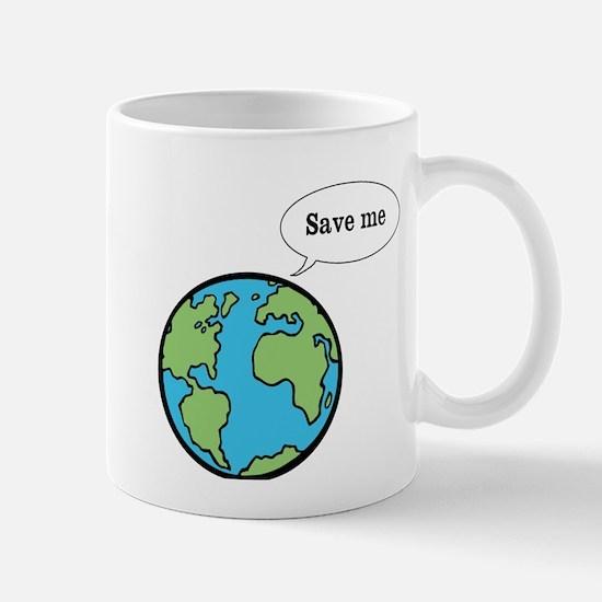 Save me says Earth Mug