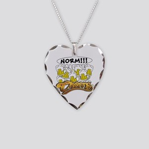 NORM! Classic Cheers Design Necklace Heart Charm