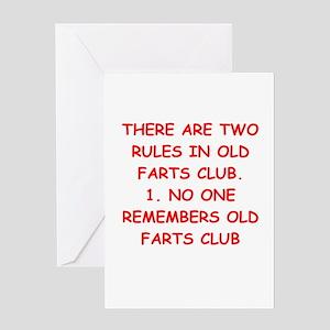 Old farts jokes Greeting Card
