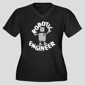 Robotic Engineer Women's Plus Size V-Neck Dark T-S
