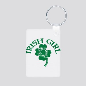 IRISH GIRL SHIRT ST. PATRICKS Aluminum Photo Keych