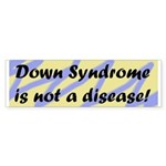 Blue/Yellow DS is not a disease bumper sticker