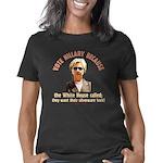 Hillary because 8 trsp Women's Classic T-Shirt