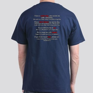 Service Dog Team Etiquette Dark T-Shirt
