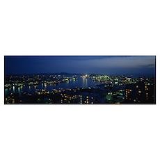 Aerial view of a city, Vladivostok, Primorsky Krai Poster