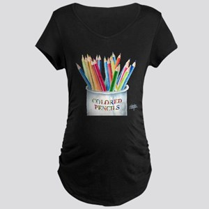 My Colored Pencils Maternity Dark T-Shirt