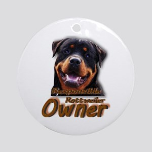 Responsible Rott Owner Ornament (Round)