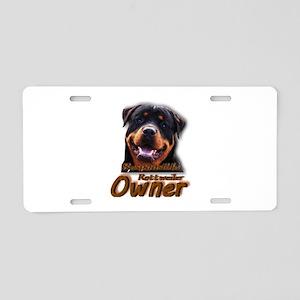 Responsible Rott Owner Aluminum License Plate