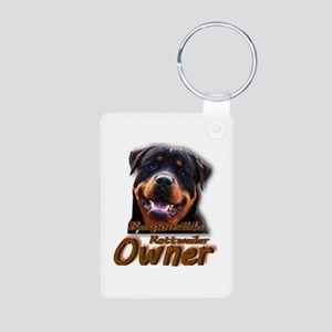 Responsible Rott Owner Aluminum Photo Keychain