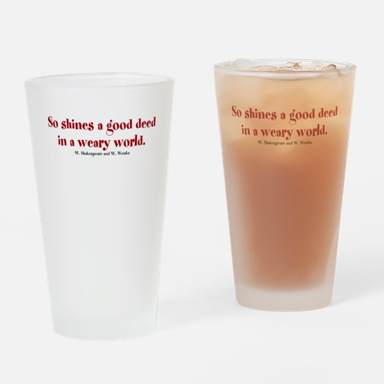 Unique Willy Drinking Glass