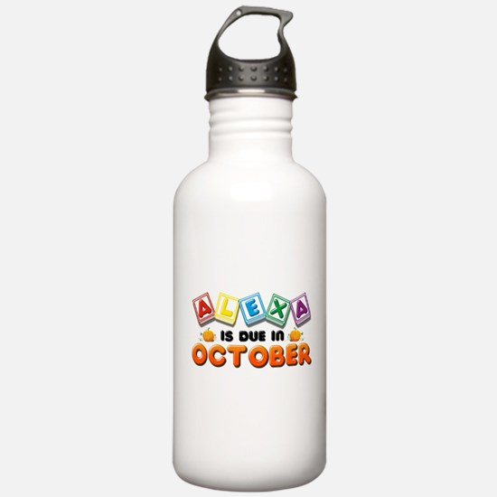 Alexa is Due in October Water Bottle