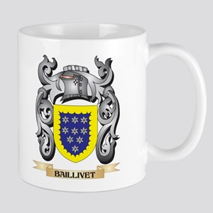 Baillivet Family Crest - Baillivet Coat of Ar Mugs