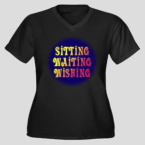 Sitting Waiting Wishing Women's Plus Size V-Neck D