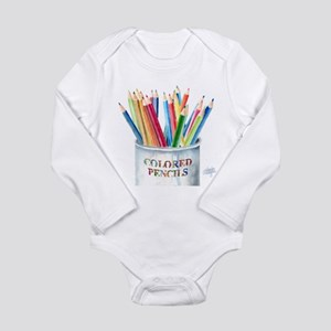 My Colored Pencils Long Sleeve Infant Bodysuit