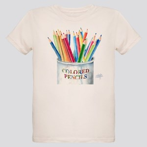 My Colored Pencils Organic Kids T-Shirt