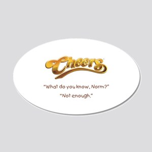 Cheers Norm Quote 22x14 Oval Wall Peel