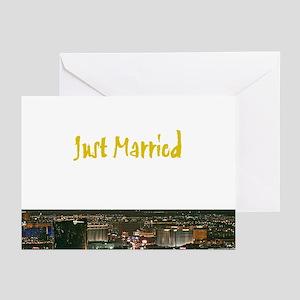 Just Married Las Vegas Cards (Pk of 10)