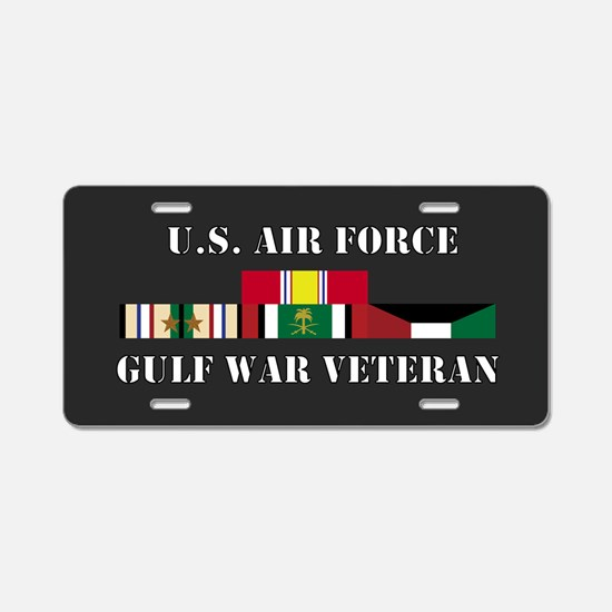 Air Force Gulf War Vet 2 Star Aluminum License Pla