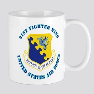 31st Fighter Wing with Text Mug