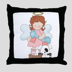 Angel Hilary and Spot Throw Pillow