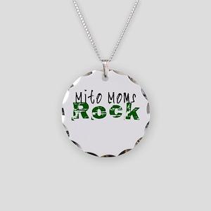 Mito Moms Rock Necklace Circle Charm