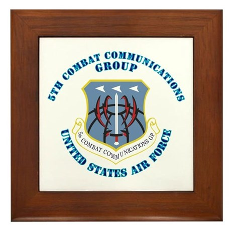 5th Combat Communications Group with Text Framed T