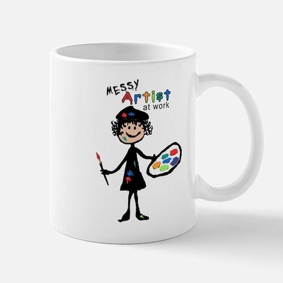 Messy Artist At Work Mug