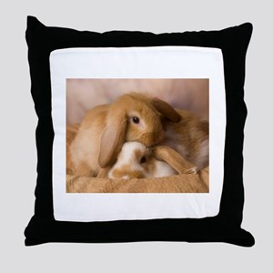 Cuddle Bunnies Throw Pillow