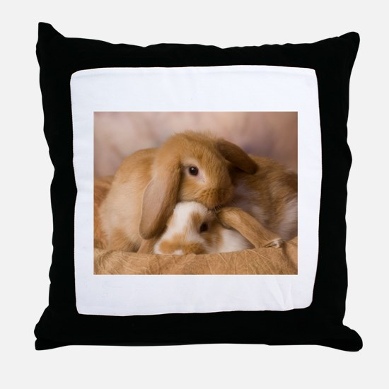 Cuddle Bunnies Throw Pillow