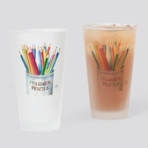 My Colored Pencils Drinking Glass