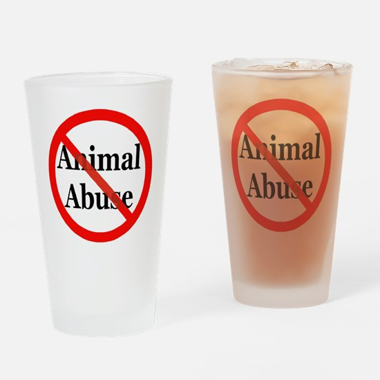 No Animal Abuse Drinking Glass