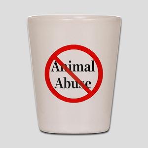 No Animal Abuse Shot Glass