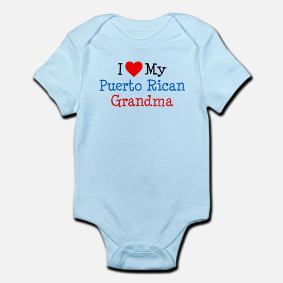 I Love Puerto Rican Grandma Infant Bodysuit