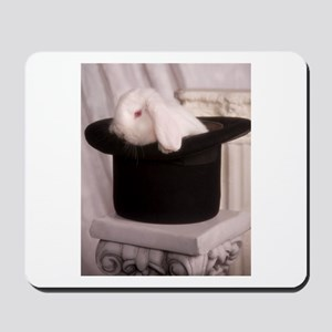 Top Hat Bunny Mousepad