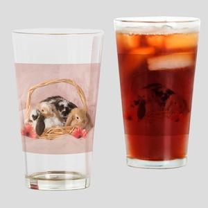 Basket Bunnies Drinking Glass