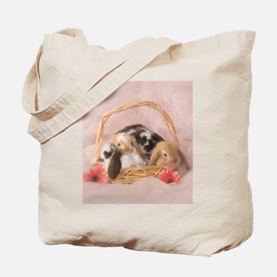 Basket Bunnies Tote Bag